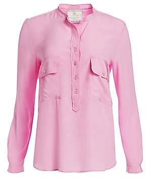 Stella McCartney Women's Long Sleeve Half Button-Down Blouse