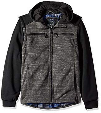 Urban Republic Mens Melange Jersey Jacket