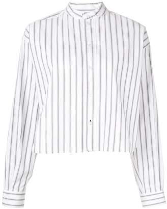 Bassike striped cropped shirt
