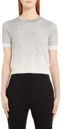 Fendi Pointelle Degrade Wool, Silk & Cashmere Sweater