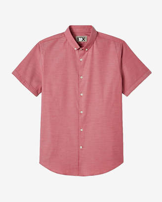 Express Slim Easy Care Short Sleeve 1Mx Shirt