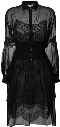 Ermanno Scervino sheer lace shirt dress