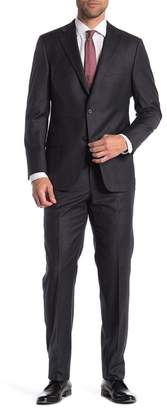 Hickey Freeman Pinstripe Classic Fit Wool & Cashmere Suit