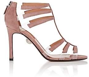 SAMUELE FAILLI Women's Cristina Suede & PVC Caged Sandals - Nudeflesh