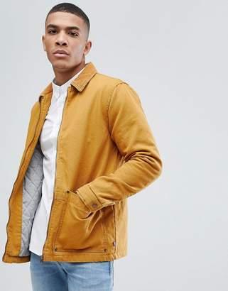 Pull&Bear Cord Collar Jacket In Mustard