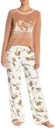 PJ Salvage Moose Print Pajama Pants