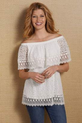 Soft Surroundings Limoges Lace Top