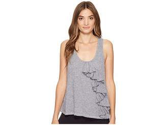 Lanston Ruffle Crop Tank Top Women's Sleeveless