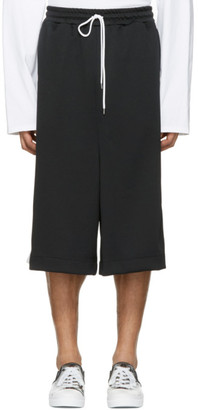 Miharayasuhiro Black Oversized Track Shorts $265 thestylecure.com