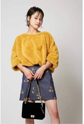 CECIL McBEE (セシル マクビー) - セシルマクビー デニム刺繍スカート