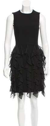 Michael Kors Ruffle-Accented Sheath Dress
