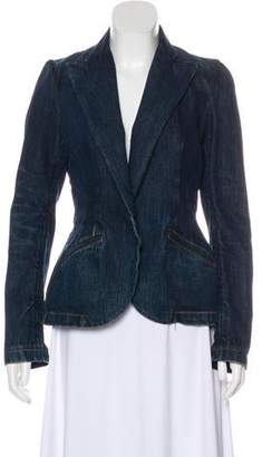 Ralph Lauren Black Label Denim Peak-Lapel Blazer