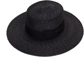Justine Hats Black Wide Brim Boater Hat