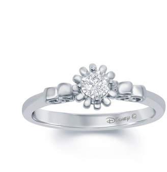 ENCHANTED FINE JEWELRY BY DISNEY Enchanted Disney Fine Jewelry 1/5 C.T. T.W. Diamond 10K White Gold Cinderella Carriage Ring