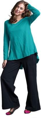 Neon Buddha Women's Oversize T Shirt Female Long Sleeve Top with High Low Hems