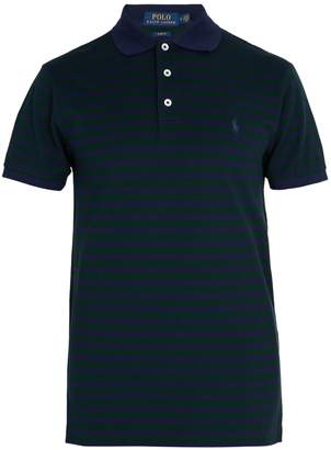 Polo Ralph Lauren Striped logo-embroidered cotton polo shirt