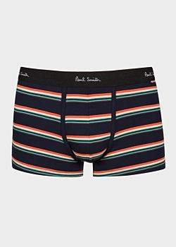 Paul Smith Men's Navy And 'Artist Stripe' Low-Rise Boxer Briefs