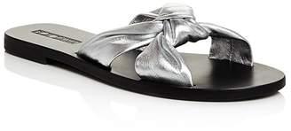 Sol Sana Women's Paradise Metallic Leather Slide Sandals