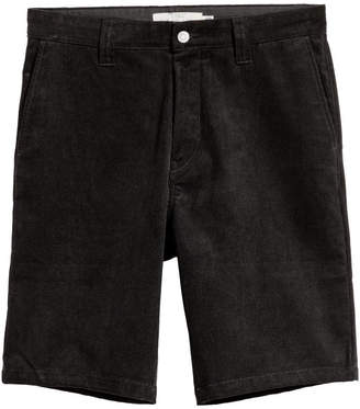 H&M Knee-length Corduroy Shorts - Black