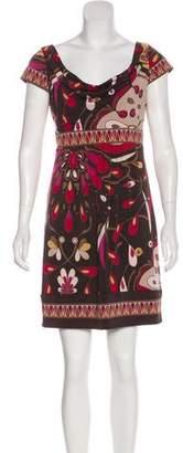 BCBGMAXAZRIA Abstract Pattern Mini Dress