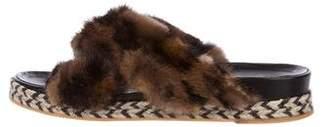 Mr & Mrs Italy Fur Slide Sandals
