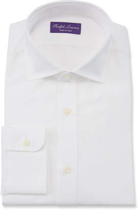 Ralph Lauren Bond Basic Pleated Barrel-Cuff Dress Shirt