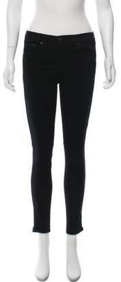 Rag & Bone Mid-Rise Zipper-Accented Jeans