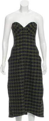 Victoria Beckham 2016 Patterned Strapless Dress