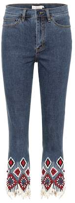 Tory Burch Mia embellished jeans