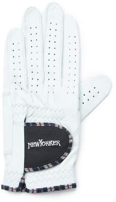 NEWYORKER women's 【店舗限定】タータン&ロゴ刺繍 ゴルフグローブ