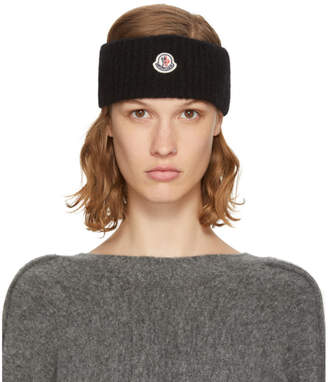 Moncler Black Logo Headband