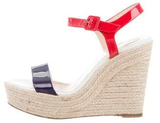 Christian Louboutin Patent Leather Espadrille Sandals