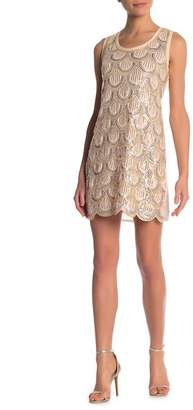 Papillon Sleeveless Scalloped Sequin Dress