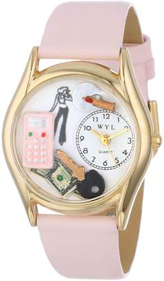 Whimsical Watches Kids' C0420004 Classic Teen Girl Pink Leather And tone Watch