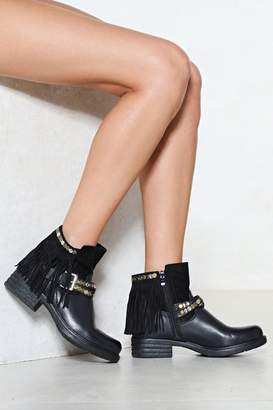 Nasty Gal Let's Hang Out Faux Leather Boot
