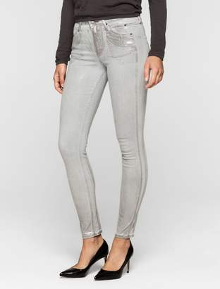 Calvin Klein sculpted light grey skinny ankle jeans