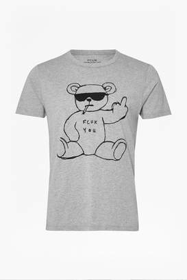 French Connenction Rude Bear Graphic T-Shirt