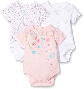 Mothercare Baby Girls' 3 Pack T-Shirt,(Manufacturer Size: 62 cm)