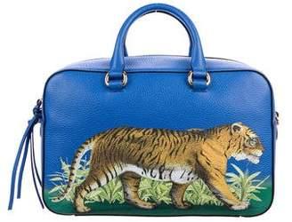 Gucci 2017 Tiger Print Medium Top Handle Bag