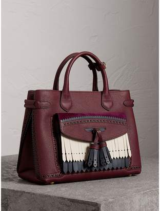 Burberry The Medium Banner in Leather with Fringed Pocket