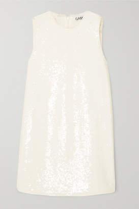 2e4fb21ce668c Ganni Sequined Satin Tunic - Cream