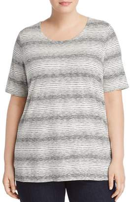 Eileen Fisher Plus Variegated Striped Tee