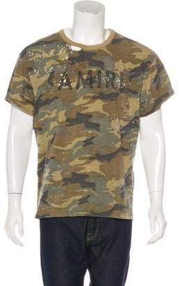 Amiri Camouflage Logo T-shirt