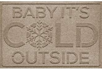 The Holiday Aisle Aqua Shield Baby It's Cold Doormat
