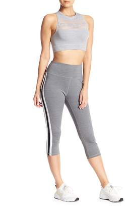 Bebe Racer Stripe Capri Leggings