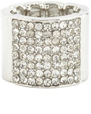 Charlotte Russe Rhinestone Bar Stretch Ring