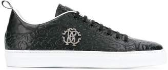 Roberto Cavalli leopard embossed sneakers