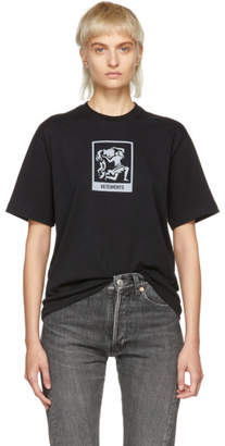 Vetements Black Aquarius Horoscope T-Shirt