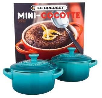 Le Creuset Pair of Mini Cocottes w/ Cookbook