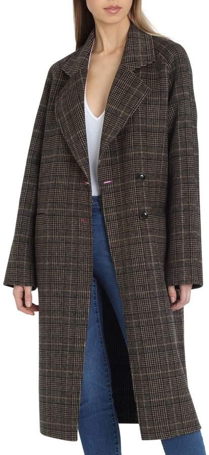 Plaid Double-Face Wool Coat
